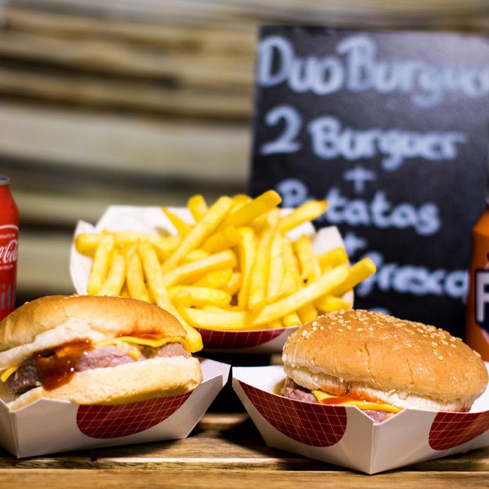 Pizzone, Duo Burger, 2 Burger, Patatas fritas y refresco