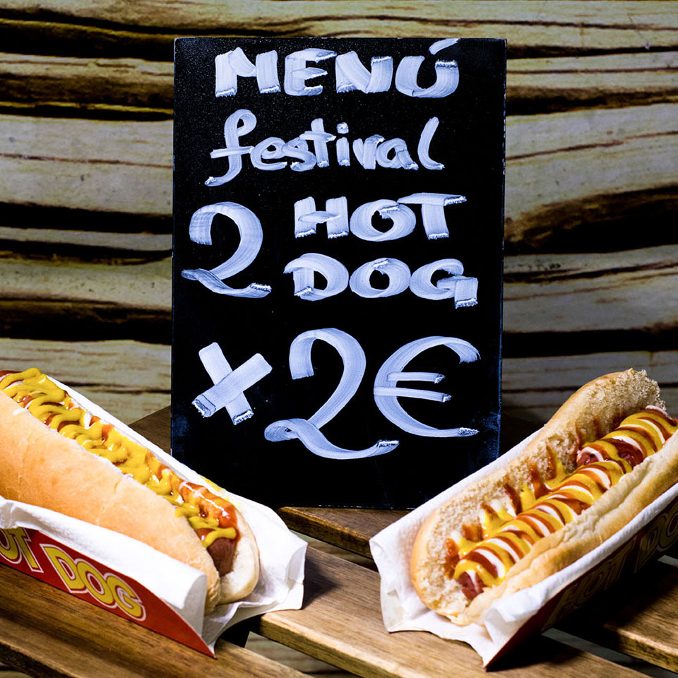 Pizzone, Menú Festival 2 hot dog 2€