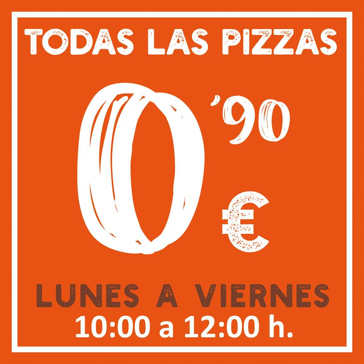 Porciones de Pizza a 0.90 €